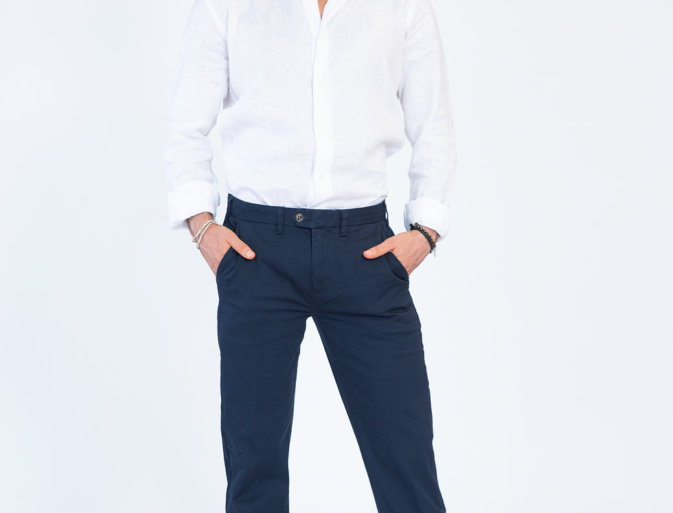 Chino vestibilità regular mark blu