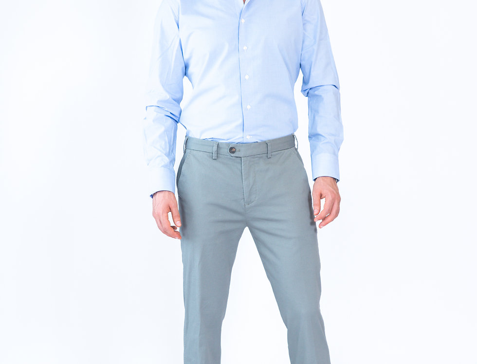 Chino vestibilita' regular marck grigio chiaro