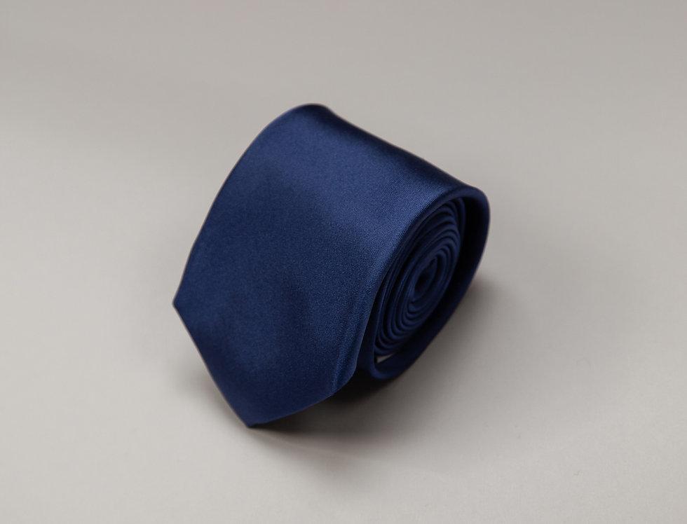 Cravatta pura seta jacquard blu royal