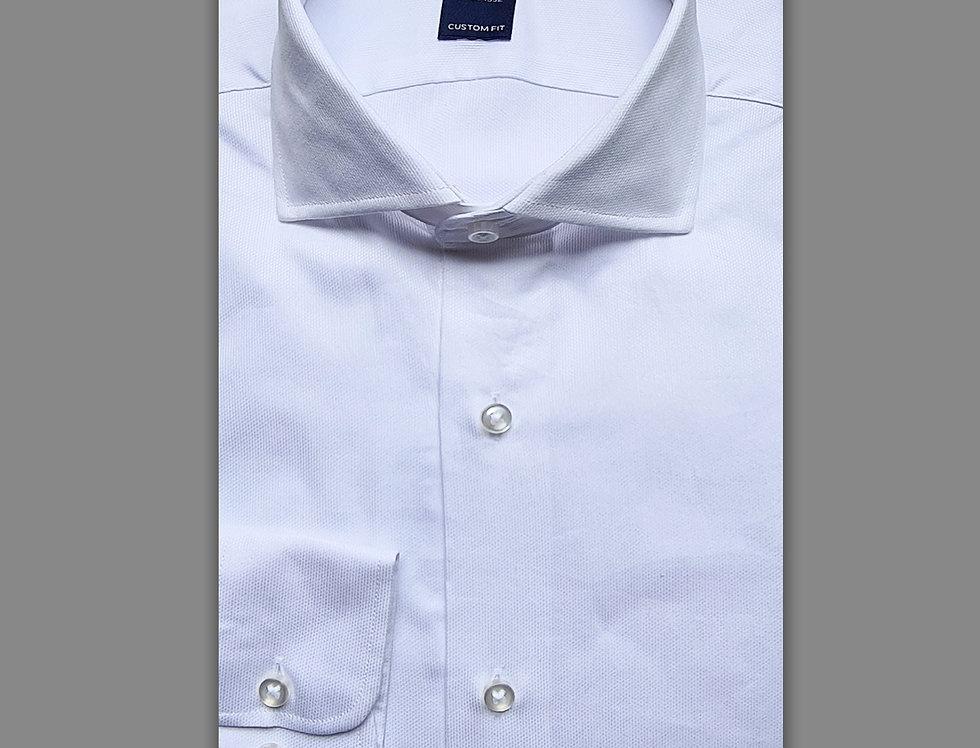 Camicia in piquet bianca