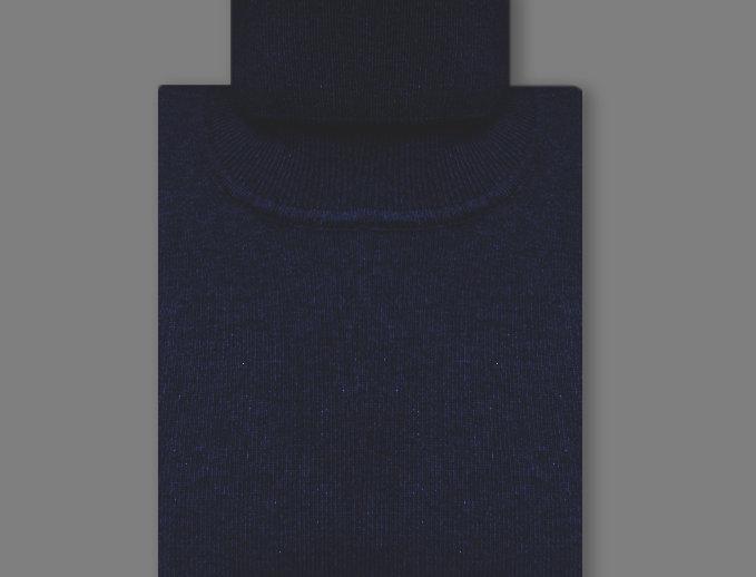 Dolcevita misto cashmere blu navy