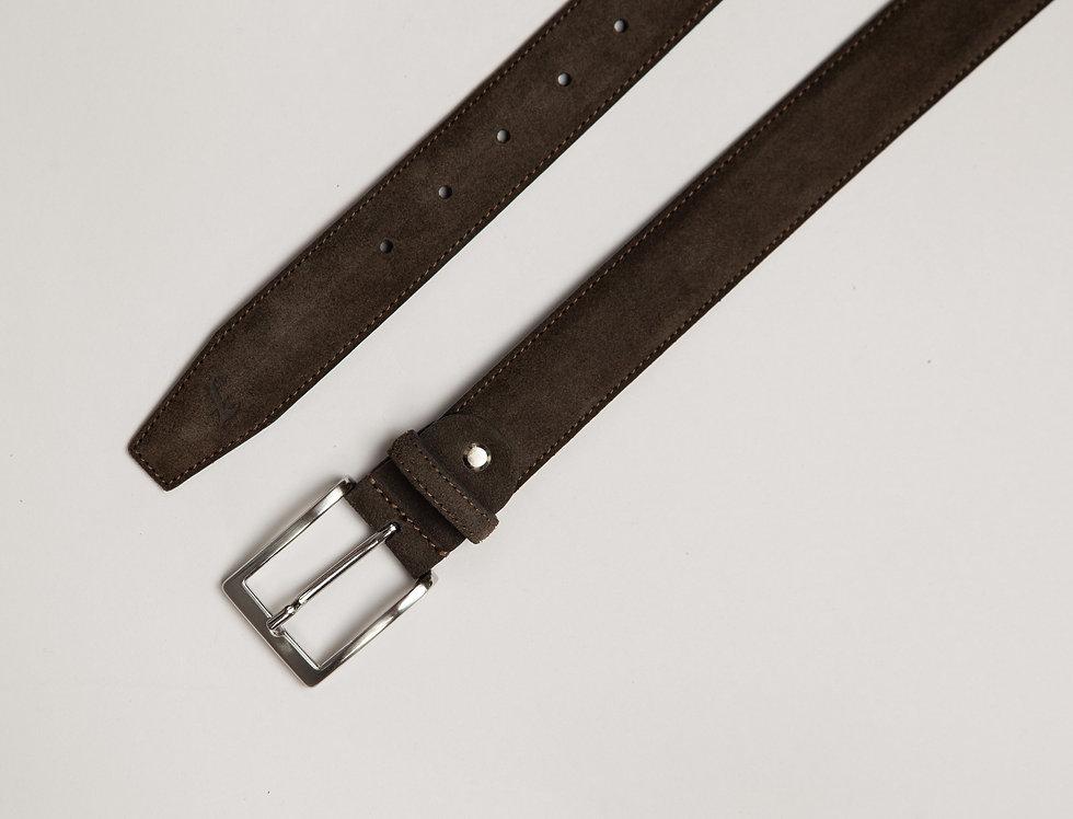 Cintura camoscio moro made in Italy