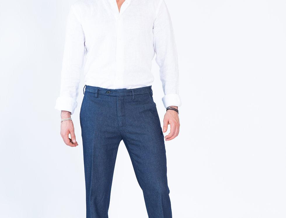 Panta jeans vestibilita' slim blu