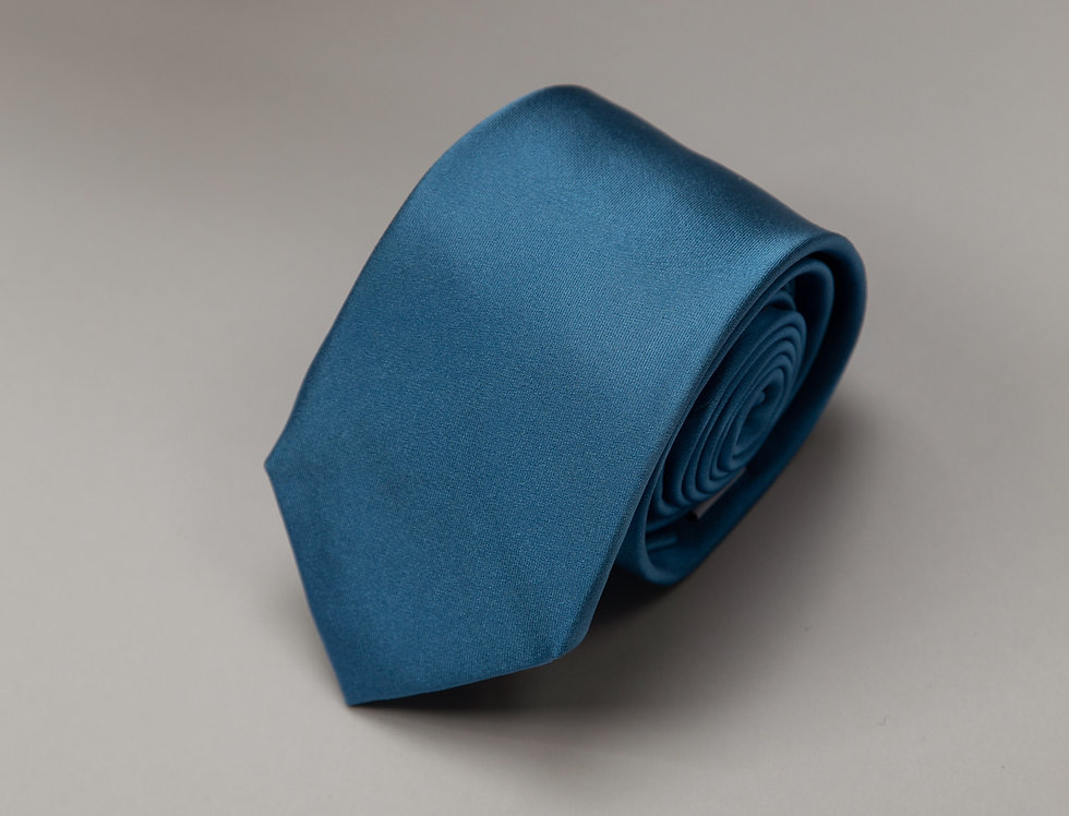 Cravatta pura seta unita acqua marina