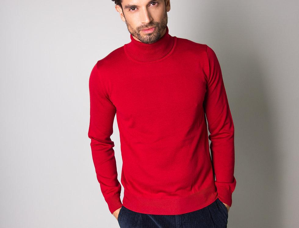Dolcevita 100% lana rosso