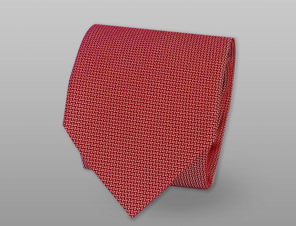 Cravatta misto seta falso unito rosso