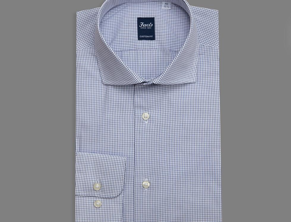 Camicia quadretto vichy di puro cotone nero