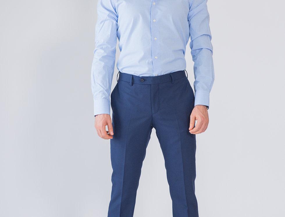 Pantalone classico vestibilita' regular blu