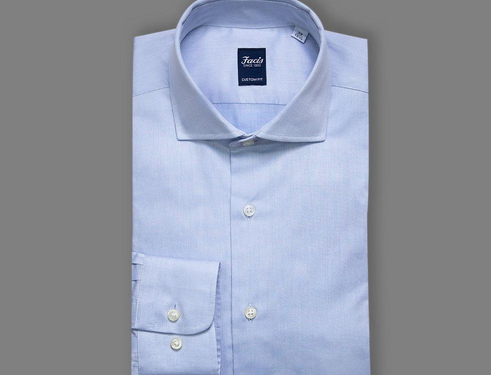 Camicia in twill di puro cotone celeste