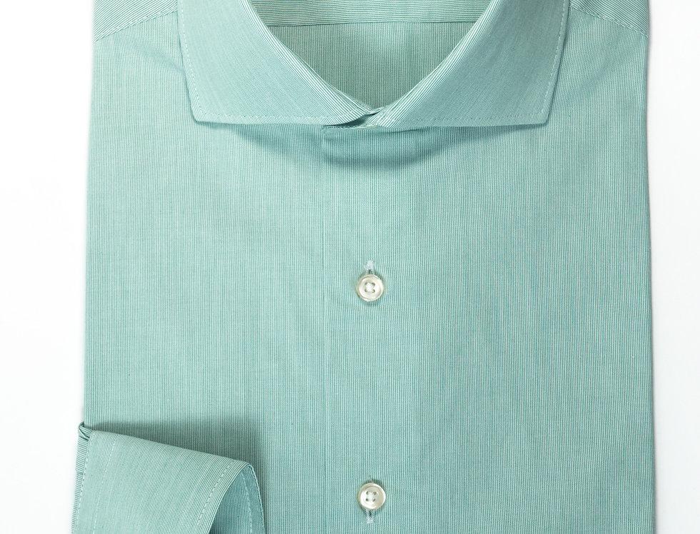 Camicia Custom collo francese bacchettato Verde