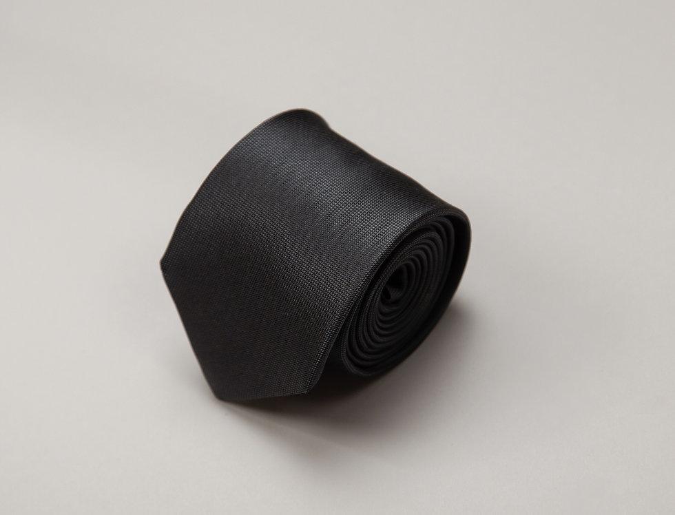 Cravatta pura seta jacquard nera