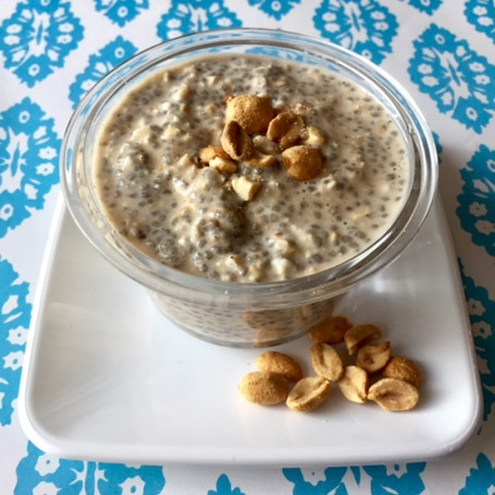 Chia, Peanut, and Oat Instant Breakfast Soak