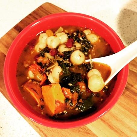 Mo Rockin Spicy Tomato-Bean Soup