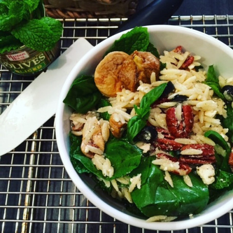 Summer Mac and Cheese: Herbed Orzo with Feta and Figs