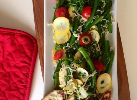 Warm Veggie and Grilled Haloumi Salad