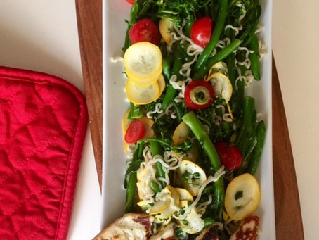Warm Veggie and Grilled Haloumi Salad