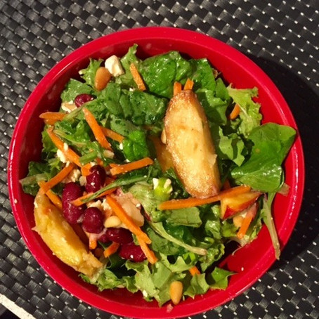 The Best Roasted Potatoes and Salad