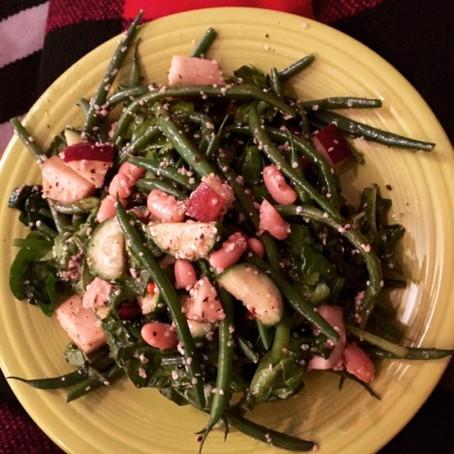 Green Bean Salad w/ Blood Orange Juice