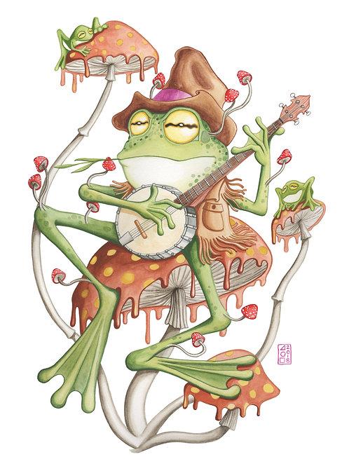 Folk Frog Print