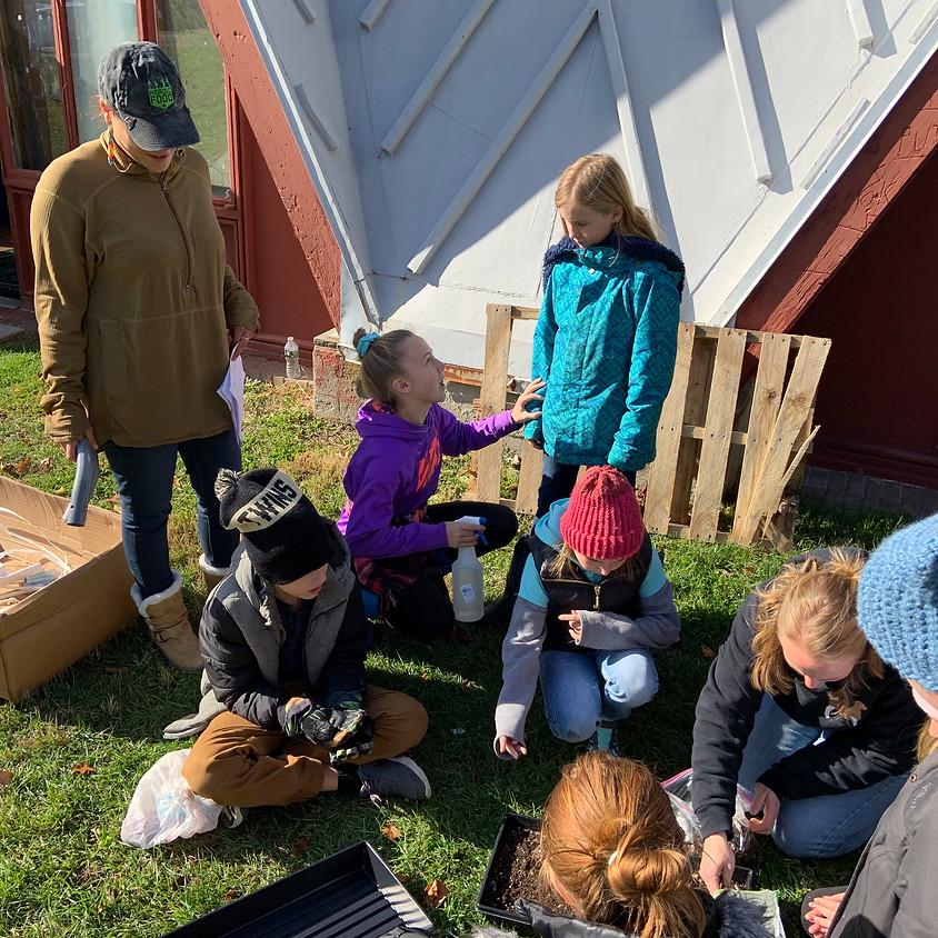 Greenhouse Construction with Hudson Hills Montessori School 2019