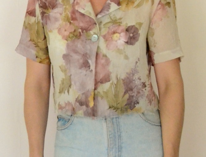 Sheer Flora Blouse
