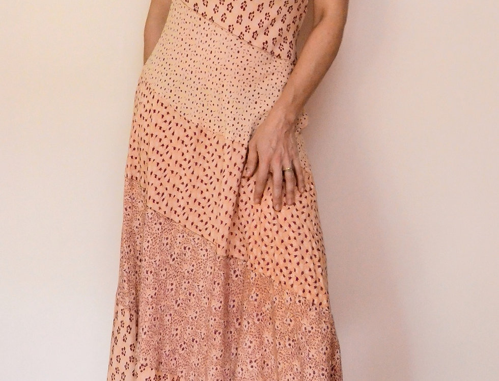 Peach Maze Dress