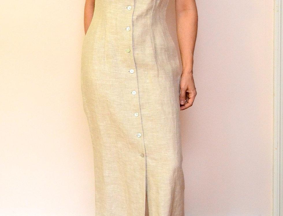Sandstone Linen Dress