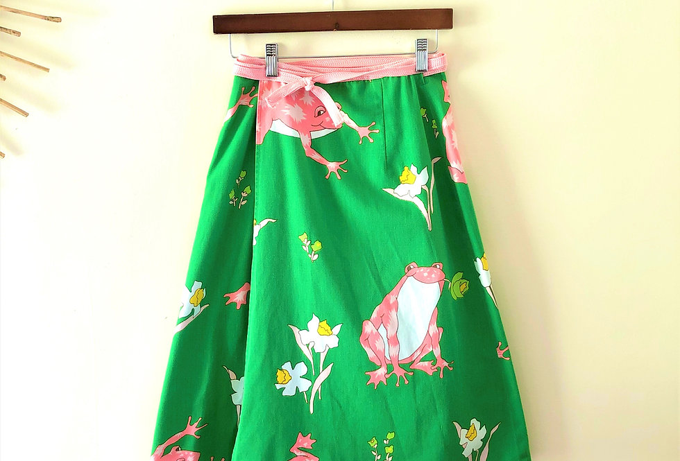 70s Frog Lily Wrap Skirt