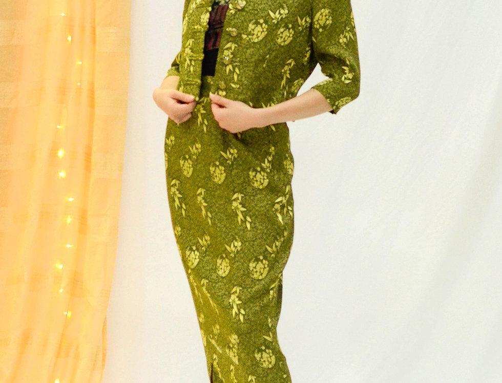 Japanese Garden Silk Set