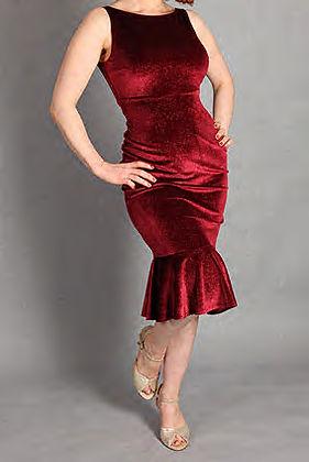 Robe de tango en velours à paillettes _