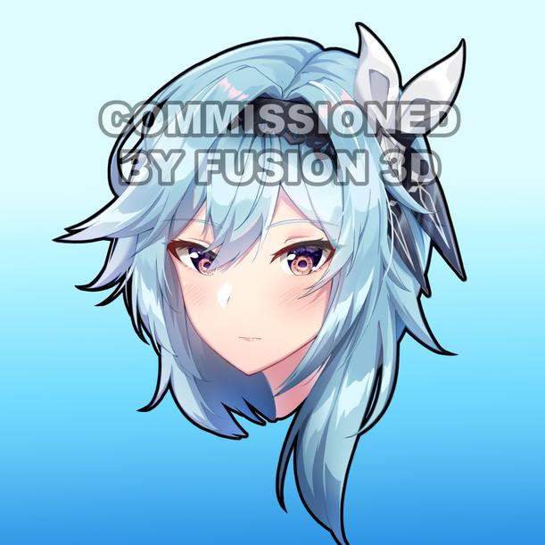 Commission Fusion3D Eula Peeker Sticker