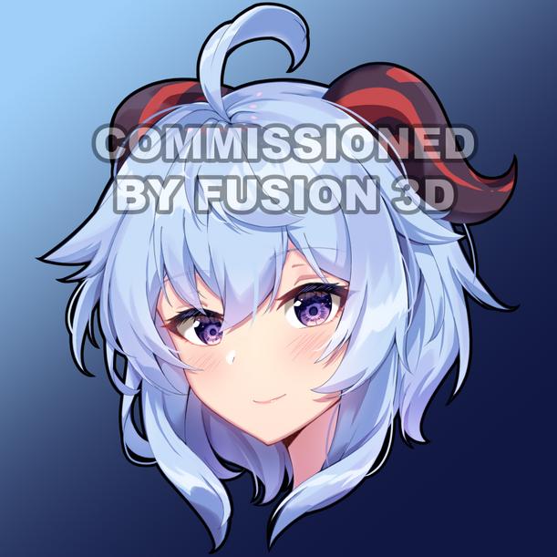 Commission Fusion3D Ganyu Peeker Sticker