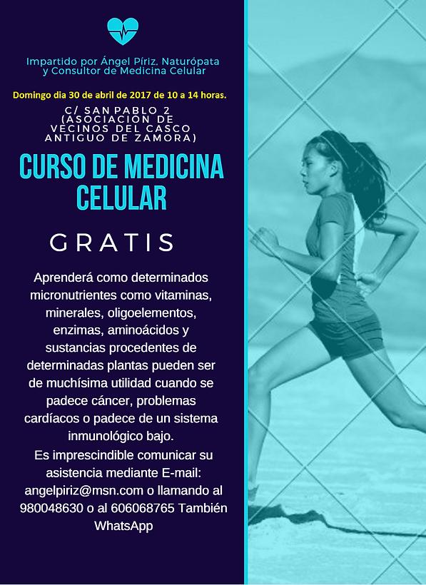 ANUNCIO CURSO DE MEDICINA CELULAR ZAMORA