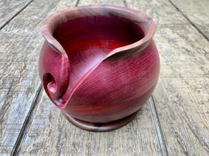 Purple heart & Walnut Yarn Bowl