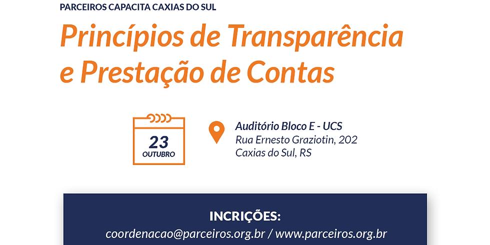 Capacitação sobre Princípios de Transparência e Prestação de Contas