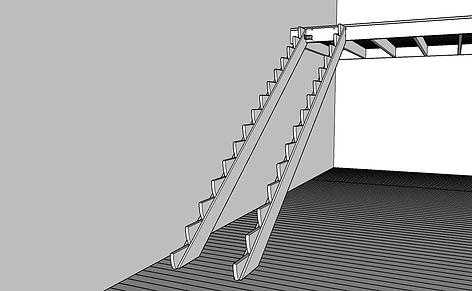 Balkongtrappa vangstycke altan
