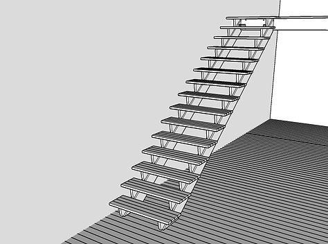Färdig balkongtrappa