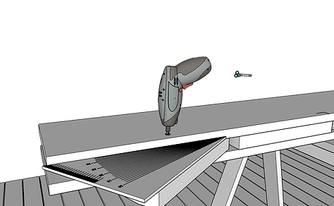 Lutning utomhustrappa vinkel