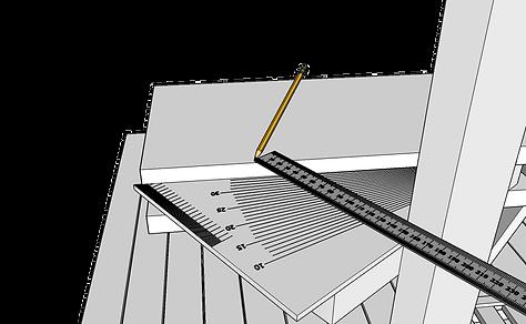 Mäta vangstycke till utomhustrappa