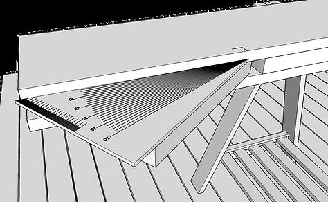 Gradskiva vinkel balkongtrappa