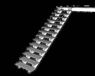 Färdig trappa till balkong