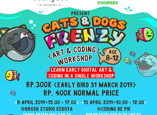 Cats & Dogs Frenzy - Digi Art & Coding Workshop (age 8-12)