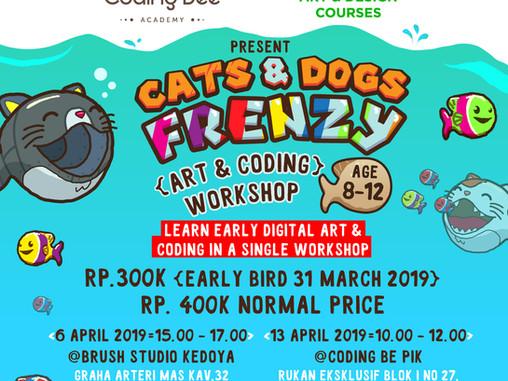 Cats & Dogs Frenzy - Digi Art & Coding Workshop (age 8-12)