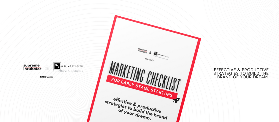 The Ultimate Marketing Checklist for your Startup