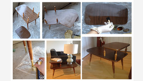 #24: Step by step instructions on how to give a gold dipped vintage look to a dated accent table