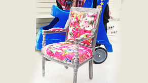 A beautiful arm chair for every little girl's bedroom