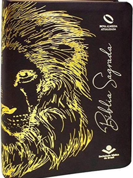 Bíblia Sagrada Leão Capa couro sintético: Nova Almeida Atualizada (NAA)