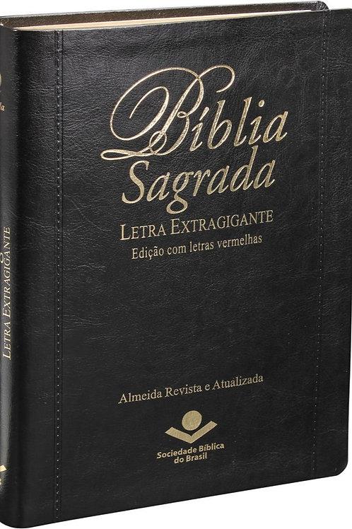 Bíblia Sagrada Letra Extragigante com índice - Capa Preta: Almeida Revista e Atu