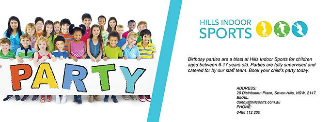 Event and Kids activity centre - Hills Indoor Sports