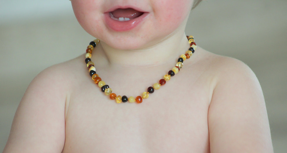 Collier et bracelet d'ambre pour bébé/enfant